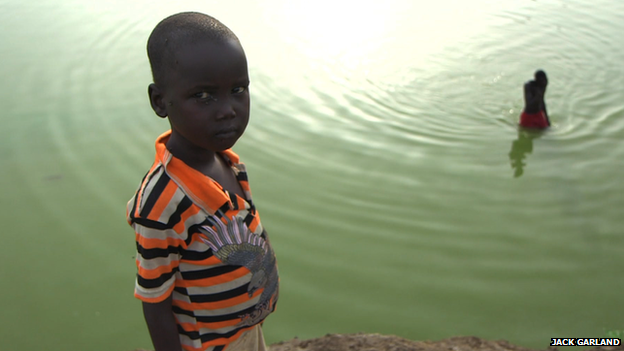Boy at a camp in Bentiu