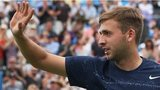 Great Britain's Dan Evans won on day one of Queen's 2014