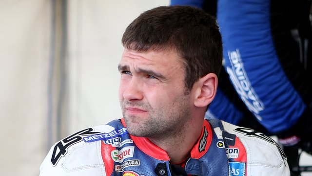 William Dunlop fell off at the Graham Memorial section of the Isle of Man course