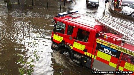 Fire engine in Ilkeston
