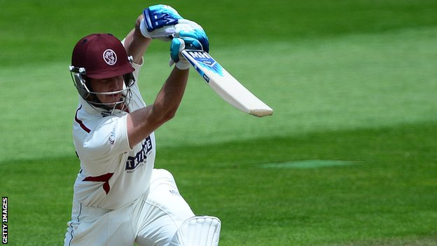 Craig Kieswetter strikes a four for Somerset