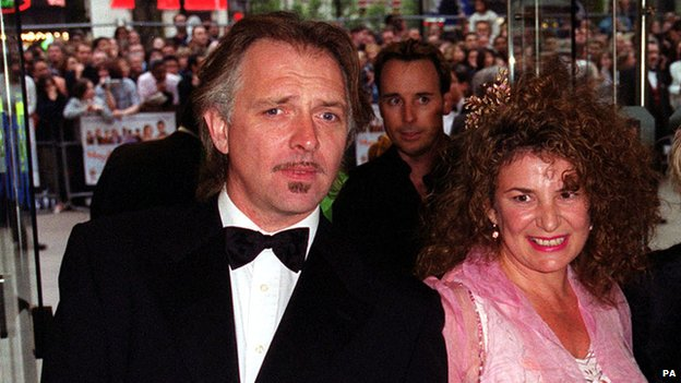 Rik Mayall and his wife Barbara Robbin