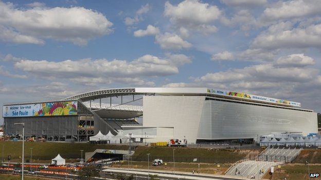 View of the Arena se Sao Paulo in Sao Paulo on 8 June, 2014