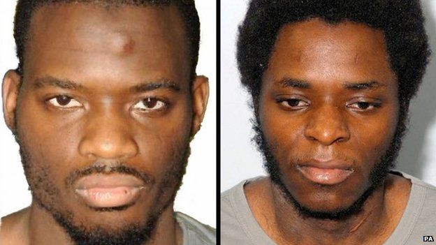 Michael Adebolajo (left) and Michael Adebowale (right)