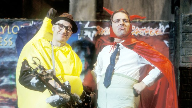 Ade Edmondson and Rik Mayall