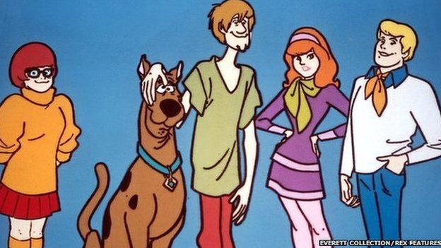 Velma, Scooby Doo, Shaggy, Daphne and Fred in Scooby Doo, 1969
