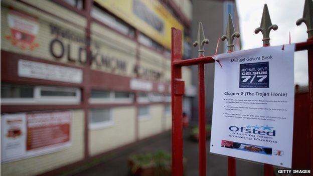 Flyer outside Oldknow Academy