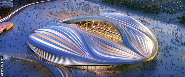 The stadium in Al Wakra is now under construction