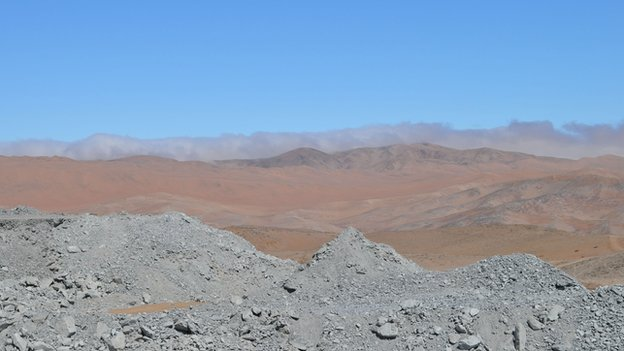 View of the Atacama desert