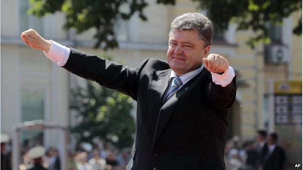 Ukrainian President Petro Poroshenko at his inauguration in Kiev (7 June 2014)