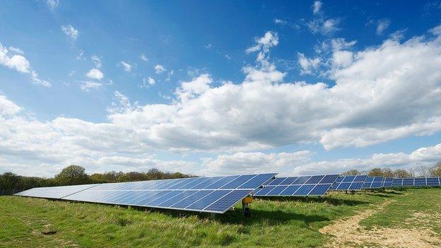 Existing Lightsource Renewable Energy solar farm site