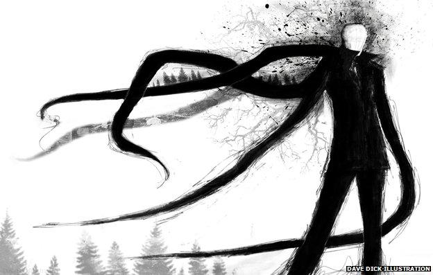 Slender Man illustration