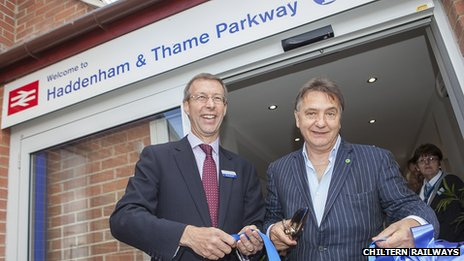 Raymond Blanc opening the new station