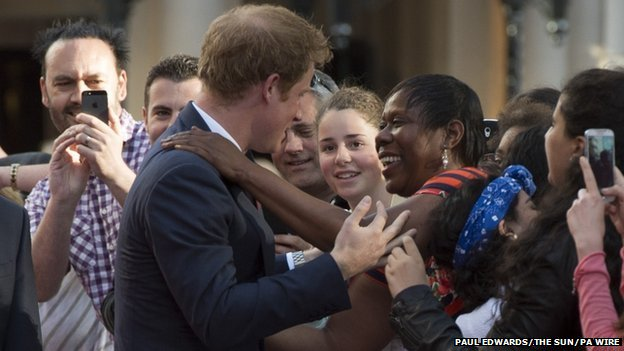 Prince Harry meets a fan