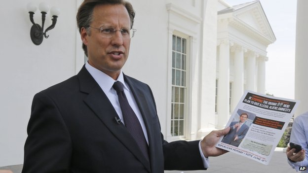 David Brat appeared in Richmond, Virginia, on 28 May 2014