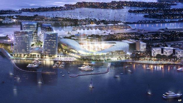 The proposed stadium