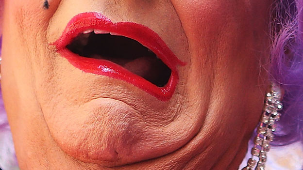 Barry Humphries (mouth only)