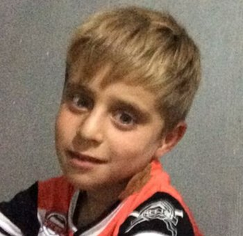 Muadh Zein, six, was trapped in Syria for more than three years