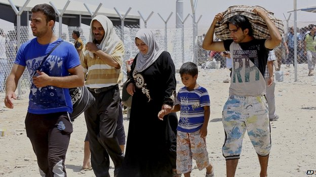 Refugees fleeing from Mosul