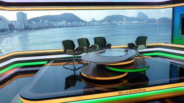 BBC Sport studio in Rio
