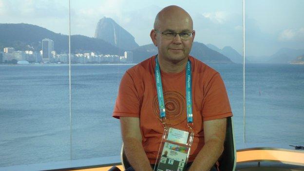 Phil Bigwood in Rio studio