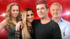 The X Factor judges together. Mel B, Cheryl, Simon and Louis.