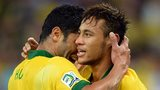 Neymar of Brazil celebrates scoring a goal