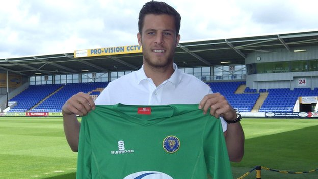Shrewsbury Town keeper Jayson Leutwiler