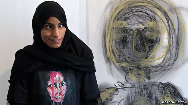 Zahra Al Dhamin at the Al Riwaq Artspace