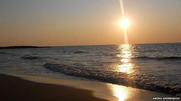 Sunset beach shot in Libya taken by Amena Shermadou