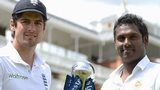 England captain Alastair Cook and Sri Lanka skipper Angelo Mathews