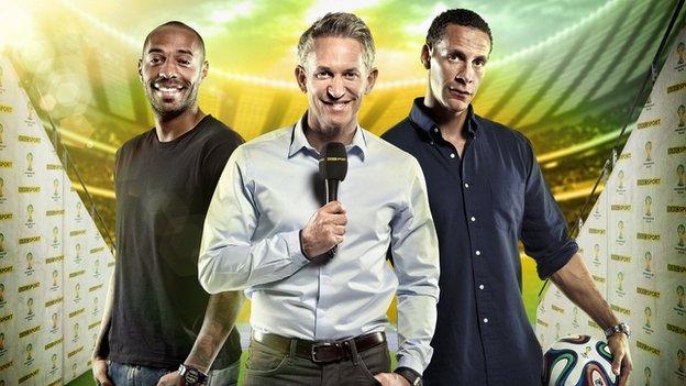 Thierry Henry, Gary Lineker and Rio Ferdinand