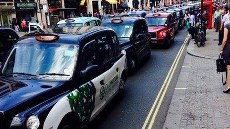 Cab strike