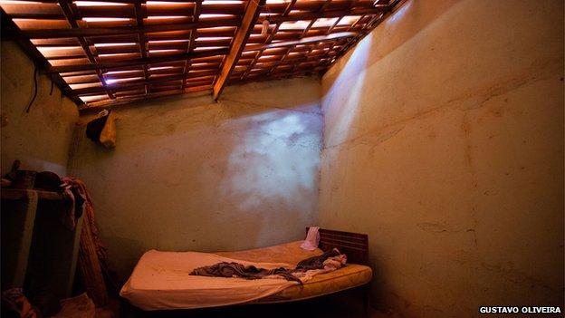 Bedroom in Alves's childhood home