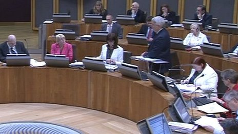 Labour AMs in the chamber