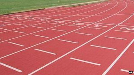 An athletics track (generic)