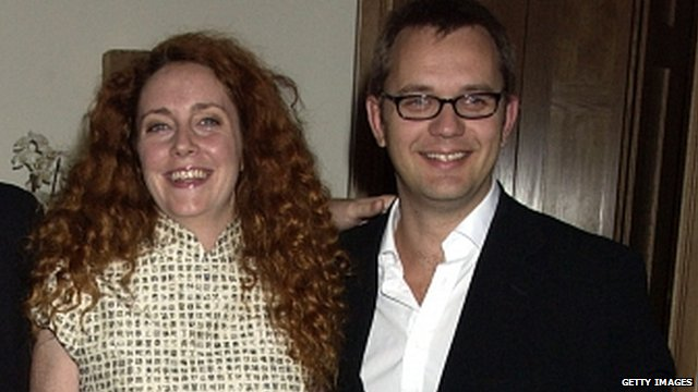 Rebekah Brooks and Andy Coulson at a party in 2004