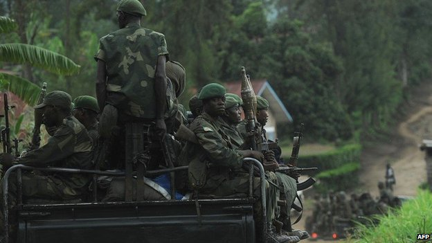 Democratic Republic of Congo government soldiers in the east pictured in 2012