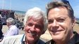 Radio 5 presenter Peter Allen and comedian Eddie Izzard