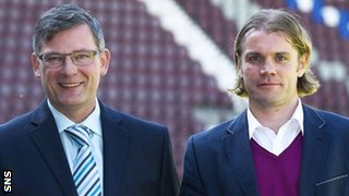 Hearts' new director of football Craig Levein and head coach Robbie Neilson