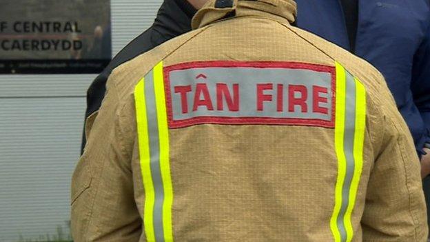 Cardiff firefighter on strike