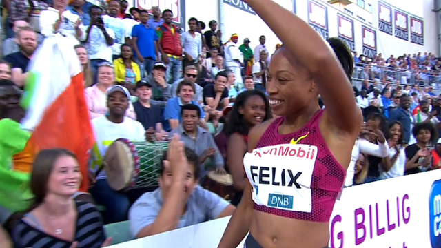 Diamond League: Allyson Felix wins 200m on return from injury