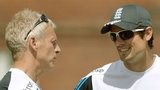 England coach Peter Moores and captain Alastair Cook
