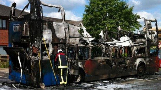 Bus fire evacuates university of warwick buildings bbc news