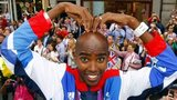 Mo Farah does the Mobot