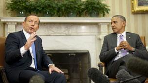 Mr Abbott and Mr Obama