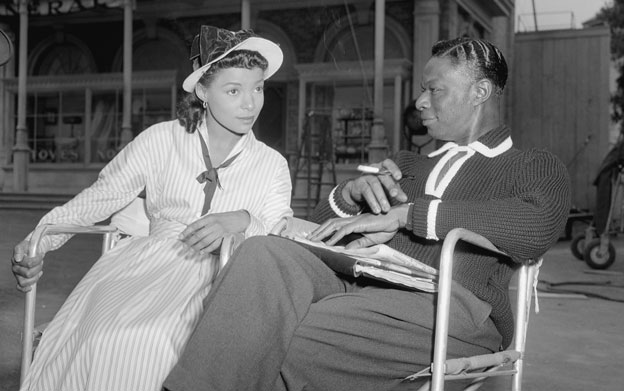 Dee with Nat King Cole in 1957