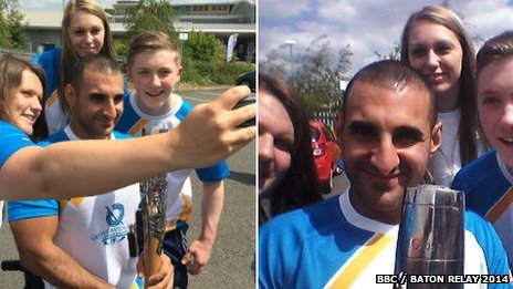Baton bearer selfie photos