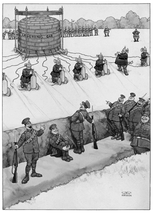 German Breaches of the Hague Convention by Heath Robinson