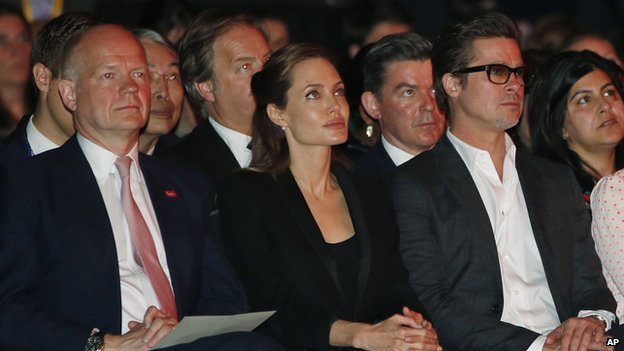 William Hague, Angelina Jolie and Brad Pitt